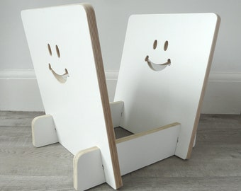 LP Vinyl record storage rack (with smiley face)