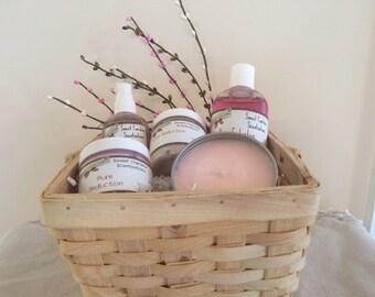Pure Seduction Spa Basket / Spa Baskets / Mother's Day Baskets / Bath and Body Baskets