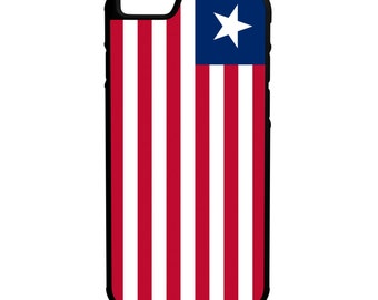 Liberia Flag iPhone Galaxy Note LG HTC Hybrid Rubber Protective Case