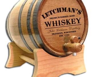 FREE SHIPPING! 2 Liter Personalized Oak Whiskey Barrel- Personalized Oak Barrel-Personalized Wine Barrels- Oak Keg- Custom Oak Whisky Barrel