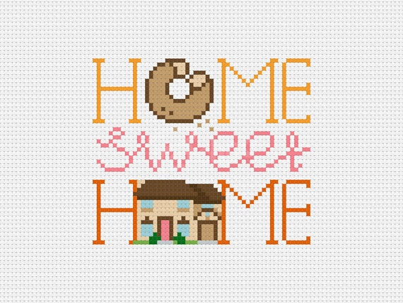 Home Sweet Home, The Simpsons  - Cross Stitch Pattern (PDF) - INSTANT DOWNLOAD