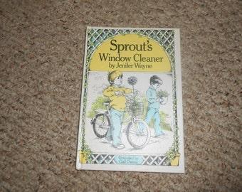 "Vintage Children's Book ""Sprout's Window Clelaner"""
