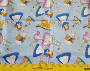 Alice In Wonderland cotton woven quilt weight fabric 1yd