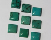15 PCS. Lot Of Top Quality Natural Turquoise 8x8 mm Square Cabochon For Jewelry
