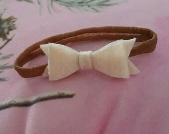 Nylon baby headband - Itty bitty bow headband