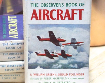 Vintage 1959 Observer's Book of Aircraft- William Green and Gerald Pollinger