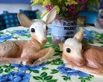 Pair of  Vintage Ceramic Deers