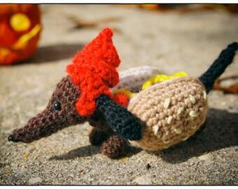 "Halloween Wiener Hot Dog - Crochet Pattern ""Hallowiener Dog"" - Hot Dog Costume"