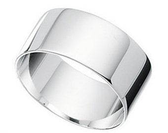 Mens flat band silver ring We can supply sizes O through to Z2