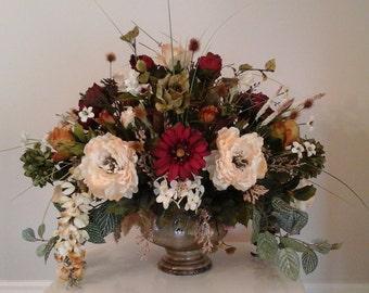 Floral Arrangement XL Floral Centerpiece Large Formal Silk