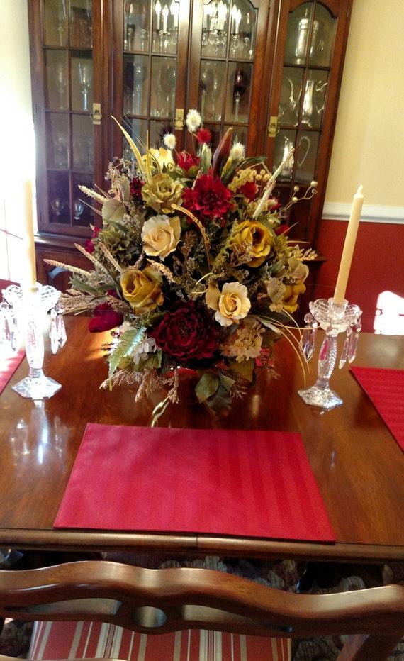 Elegant xl floral arrangement floral centerpiece shipping for Dining room flower arrangements