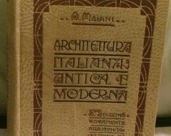 Italian Architecture Ancient to Modern Italian Language 1910