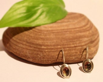 Sterling Silver and Watermelon Tourmaline Earrings