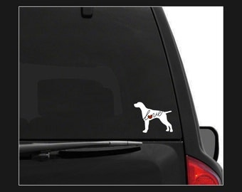 German Shorthaired Pointer Love: A Car Window Vinyl Decal - Laptop Sticker - Dog Breed Decals - Dog Stickers - Cooler Decal - Dog Lover Gift