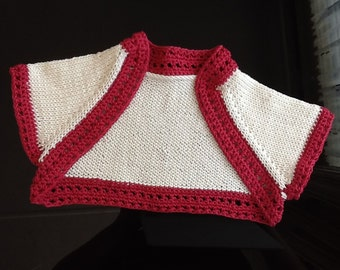 Simple Toddler Shrug. Baby Bolero. Knitted Shrug. Newborn to 12 years.