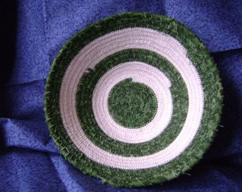 Dartmouth Green and White Coiled Bowl  #185