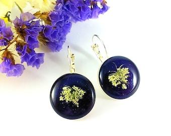 Navy blue earrings Space earrings Galaxy earrings Nebula earrings Universe earrings Dark blue earrings Celestial earrings For girls