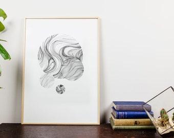 Moon 03.  Giclee Art Print