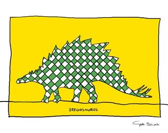 Stegosaurus - signed gicée art print