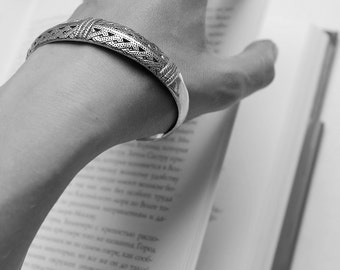Bronze boatshaped Viking bracelet