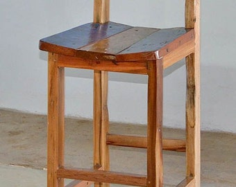 Outdoor Furniture, Reclaimed Teak Bar Chairs Made From Reclaimed Bali Boats