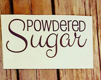 Sugar Canister Decal
