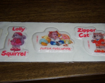 Vintage Puffy Stickers Get-Along Gang 1983