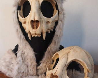 Cat Skull Mask - Top Half - Painted