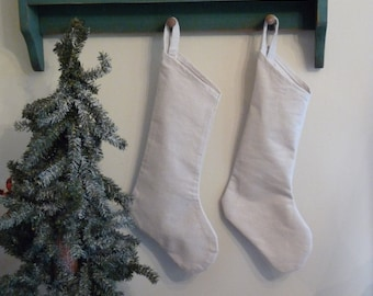 Neutral Canvas Stocking