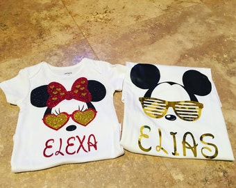 Mickey/ Minnie custom shirts