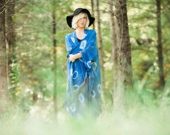 Indigo Kimono   Hand Dyed Woven Cotton