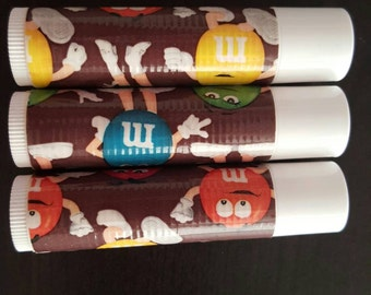 M&M Set of 3 Vanilla Organic Chapstick Lipgloss