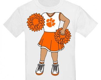 Clemson Tiger Heads Up! Baby/Toddler Cheerleader T-Shirt