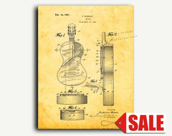 Patent Art - Guitar Patent Wall Art Print
