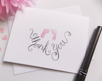 Baby Shower Thank You Cards - Thank You Cards - Baby Girl Thank You - New Baby Thank Yous - Handmade - Thank You Set - Thank You Pack - Boy
