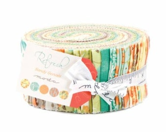 Refresh Jelly Roll by Sandy Gervais for Moda Fabrics. 17860JR