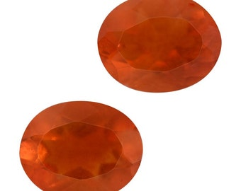 Fire Opal Loose Gemstones Set of 2 Pear Cut 5x4mm TGW 0.40 cts.
