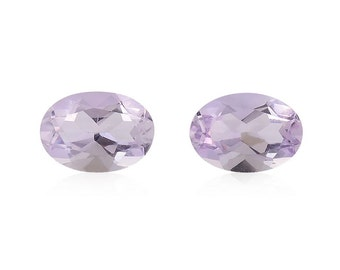 Pink Amethyst Oval Cut Set of 2 Loose Gemstones 1A Quality  7x5mm TGW 1.20 cts.