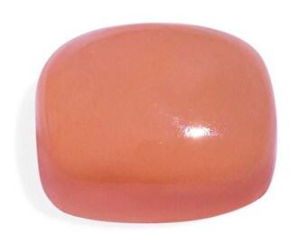 Peach Jade Dyed Cushion Cabochon Loose Gemstone 1A Quality 11x9mm TGW 3.80 cts.