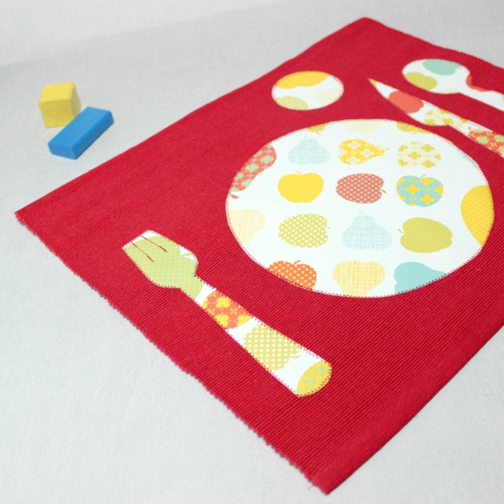 Kids placemat back to school fabric place mats setting for Table mats design your own