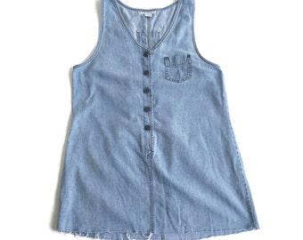 sALe 30% off 90's Denim Jean Jumper Dress