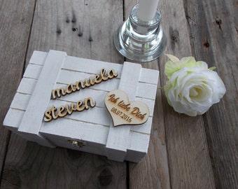 Ring box white ring box, ring box, ring bearer box, wedding