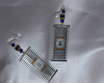 Computer Component Sci Fi Earrings