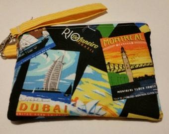 A Travelers crossbody bag or wristlet