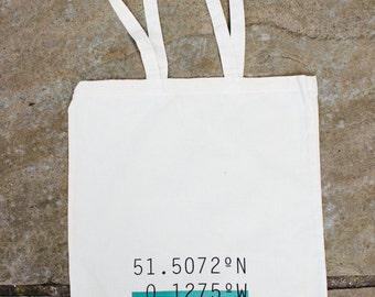 LONDON coordinates // Screen printed canvas shopping tote bag