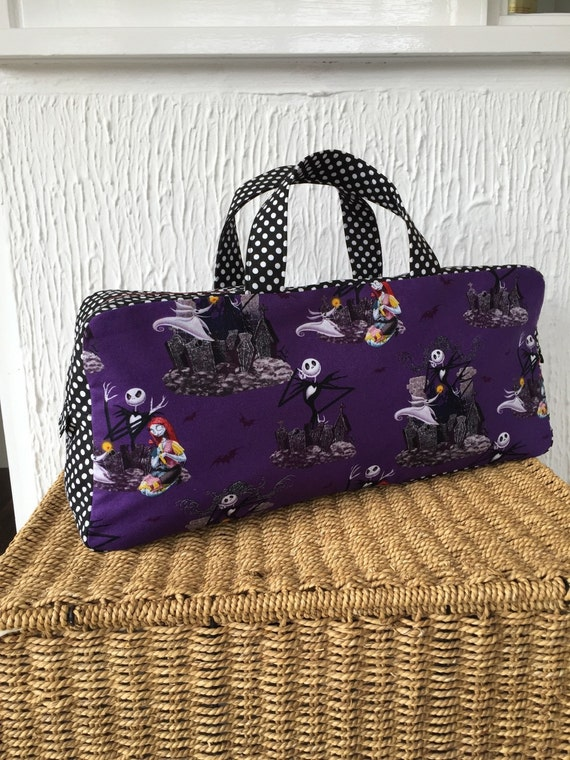 Knitting Pattern Nightmare Before Christmas : Nightmare before Christmas knitting bag with black and white