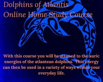 Dolphins of Atlantis Online Distance Learning Course Plus Larimar, Atlantean Dolphin Attunements and Larimar, Certified Home Study Course