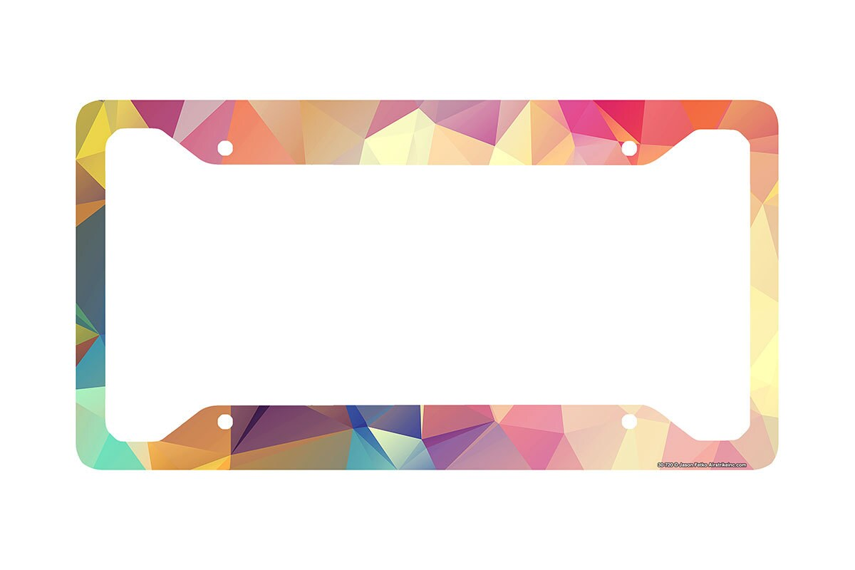 geometric license plate frame colored triangles car tag frame geometric license plate holder cute license plate frame 30 720