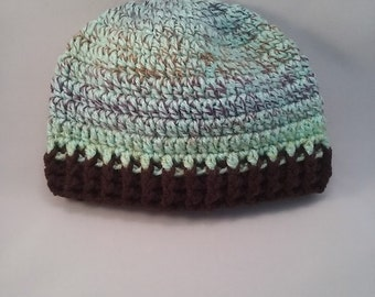 crochet toddler hat, crochet hat for boys, ready to ship hat