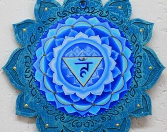 5th chakra, throat chakra, Vishuddha chakra, Blue chakra,healing art, chakra mandala, meditation art